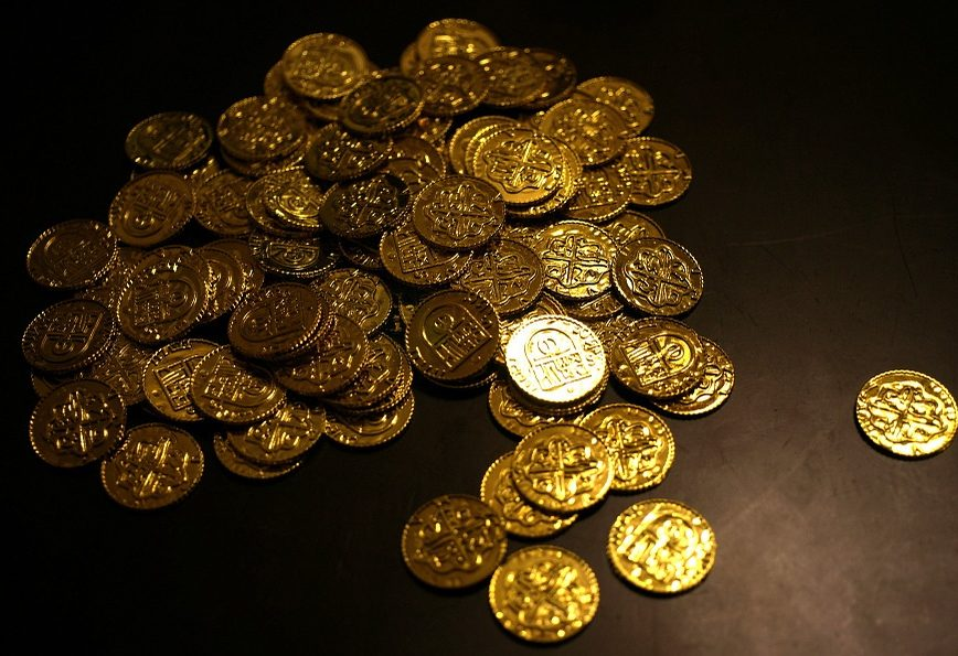 Coins Currency Rich Wealth Bitcoin Gold Money