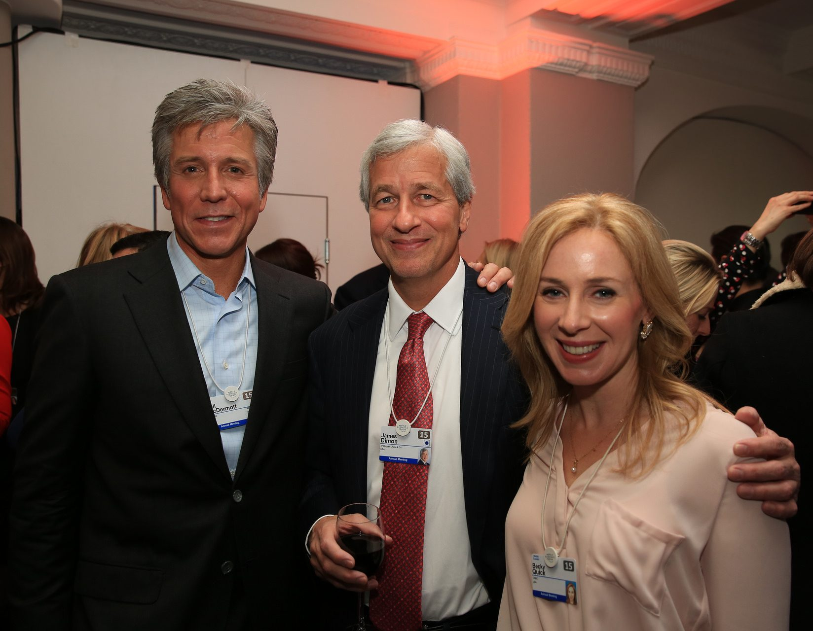 Bill McDermott, James Dimon, Becky Quick