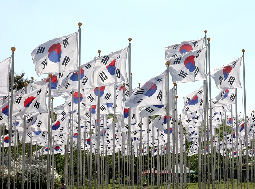 korean-flags